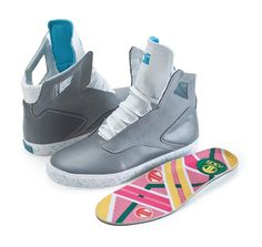 Radii Noble VLC- Grey Back to the Future homage shoes  Hoverboard insoles!  These actually look better than the official Nike ones.. They came out summer last year, but I need it in my life!