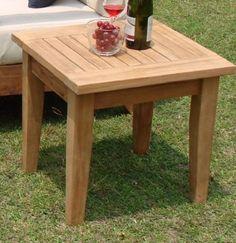 "Atnas Grade A Teak Wood 24"" Square Side Table / End Stool TeakStation http://www.amazon.com/dp/B00FIQVL6I/ref=cm_sw_r_pi_dp_di-ovb1GQT3C7"