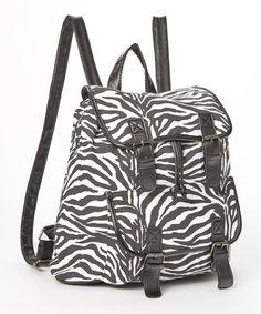 Another great find on #zulily! Black & White Zebra Backpack #zulilyfinds