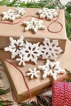 These salt dough ornaments make lovely handmade gifts and/or gift wrap accessories. They are created with just a few simple kitchen ingredients and you don't need to be crafty to make them. They always say that baking is more science than art! I plan to combine the two. This was a simple, joyful craft for me and I've carefully documented the steps, so you can enjoy making them, too. With set up and clean up, it took about 1 hour to make them. This doesn't include refrigeration time o… Candy Cane Ornament, Snowflake Ornaments, Diy Christmas Ornaments, How To Make Ornaments, Diy Christmas Gifts, Christmas Decorations, Christmas Ideas, Pink Christmas, Christmas Projects