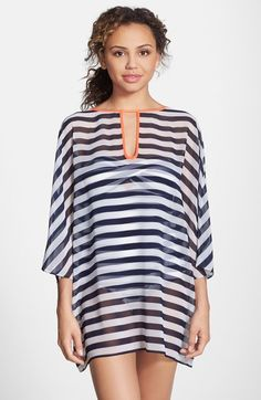 Stripe Cover-Up Tunic, Blue