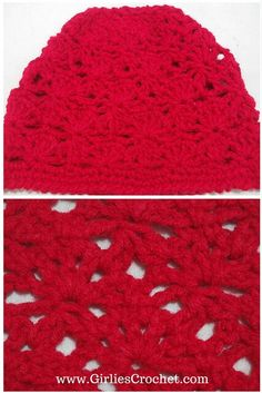 Free crochet pattern for Violy Beanie with photo tutorial from Girlie's Crochet.