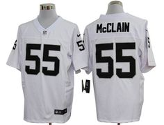 Mens Nike NFL Oakland Raiders #55 Rolando McClain White Elite Jerseys
