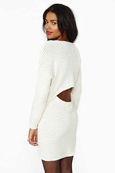 nasty gal. little secret sweater dress. #fashion