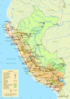Aereopuertos, Carreteras y Puertos del Perú