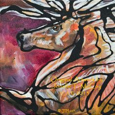 "Western Art International: Art by Oklahoma Contemporary Equine Artist Jonelle T. McCoy ""I'm Precious"""