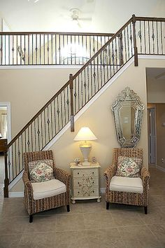 Iron Staircase and tile flooring and paint color for home update