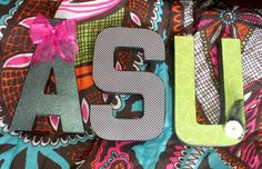 Letters Decoupage Painted Dorm Room College by HillTopDesignsToo, $30.00