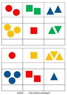 Loto des formes à 3 critères