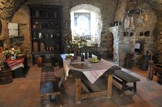 Pin by M BRAVO on Kitchens Castles interior Medieval decor European home decor