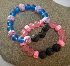 Kids Yoga Jewelry, Calming Aromatherapy Bracelets for Girls by KidsAtHeartBeadShop