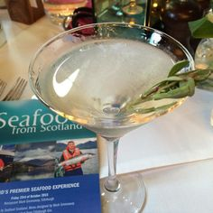 My favourite #gin Seaside from @edinburghgin @seafoodfromscot lunch