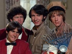 """The Monkees GIF, Davy, Micky, Mike and Peter: """"Dead right!"""" from 'The Wild Monkees' episode Peter Tork, Lita Ford, Davy Jones, The Monkees, Himym, David Cassidy, Classic Rock, Daydream, Mtv"""