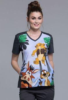 Lion King Cherokee Scrubs Tooniforms Disney V Neck Scrubs Outfit, Scrubs Uniform, Doctor White Coat, Maternity Scrubs, Scrubs Pattern, Disney Scrubs, Cute Scrubs, Cherokee Scrubs, Scrub Jackets