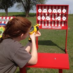 Shooting Gallery Carnival Game... For work bingo? Each side/position can shoot when task accomplished and winner is first to have all down.