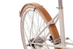Wood Bike Fenders- Woody's hand made bicycle fenders. Mud guards, Bamboo, recycle, b Bamboo Bicycle, Wood Bike, Velo Vintage, Commuter Bike, Bike Style, Bicycle Accessories, Bike Design, Custom Bikes, Etsy