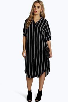Plus Emma Striped Shirt Dress