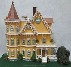 Handcrafted Quarter Scale Belladonna Gothic Victorian Mansion Dollhouse at Norman's Country Creek