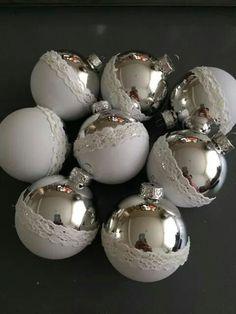 Kerstballen verf en kant