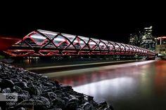 Peace Bridge http://ift.tt/1VtBDEJ Calgary night time cityscapes