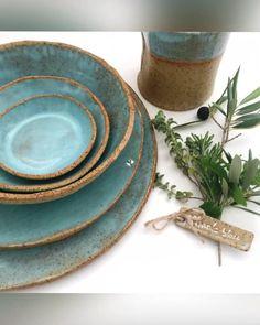 Farmhouse Dinnerware, Farmhouse Pottery, Blue Dinnerware, Stoneware Dinnerware Sets, Stoneware Clay, Pottery Plates, Ceramic Plates, Plates And Bowls, Blue Plates