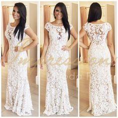 445bd388f Livia Fashion Store. VESTIDO RENDA BRANCO LONGO K 6E5H68BV9