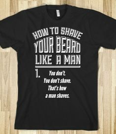 How to Shave your Beard Like A Man @Nathan Braught