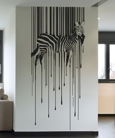 Vinyl Wall Decal Sticker Drippy Zebra - Home Design Diy Wand, Rv Interior Remodel, Oak Kitchen Remodel, Kitchen Remodeling, Wall Decal Sticker, Sticker Vinyl, Decals For Walls, Wall Vinyl, Diy Wall Art