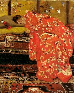 "George Hendrik Breitner, Dutch artist (1857-1923): ""Girl in a Pink Kimono"""