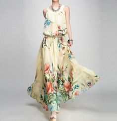 summer chiffon dress  ---want want want