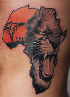 e769472e4 Lion Face Tattoo Designs Related Keywords & Suggestions - Lion Face ...  African