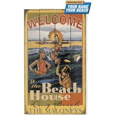 Personalized Vintage Beach Sign - Gifts, Clothing, Jewelry, Home Decor & Home Furnishings - Unique and Affordable Gifts   Potpourri Gift