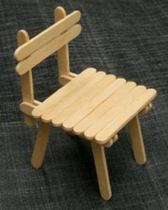 chair from ice cream stick