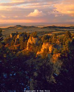 Pine Ridge Autumn View of the Bluffs towards the Black Hills of Nebraska High Plains, Chadron State Park, Nebraska