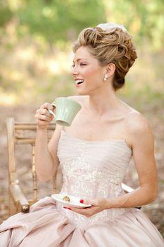 marie antoinette inspired hair, bridal updo