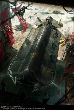 Military starship by feerikart on DeviantArt
