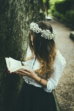 This is like my perfect look, hair not messed with and a book in my hands.