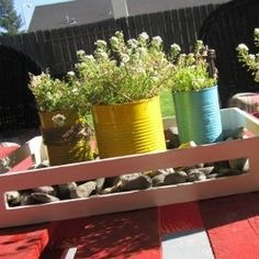 Selene repurposed cans with spray paint to make these cute planters. Go check out how she displays them!--CURATED COLLECTION - TIN CAN CRAFTS | Looksi Square
