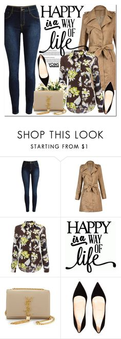 """Yoins.com"" by oshint ❤ liked on Polyvore featuring moda, Yves Saint Laurent, Christian Louboutin y yoins"