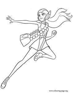 Honey Lemon with her battle armor coloring page