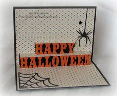 Halloween Pop Up card - created by ginab  www.gmbscrapper.blogspot.com   SHOP AT:  www.stampinheaven.ctmh.com