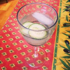Every hour is a happy hour! - Cucumber/Lambrusco summer sipper.