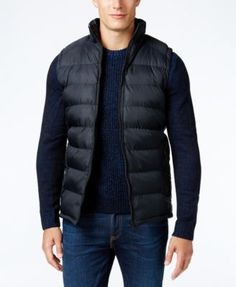 Kenneth Cole New York Puffer Vest Best Casual Wear For Men, Vest Outfits, Puffer Vest, Stylish Men, Winter Jackets, Mens Fashion, How To Wear, Clothes, Shopping