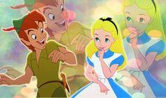 Alice in Wonderland and Peter Pan via www.Facebook.com/DisneylandForMisfits