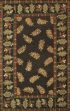 Wildwood with Border Area Rug - Western Decor - Cabin Decor