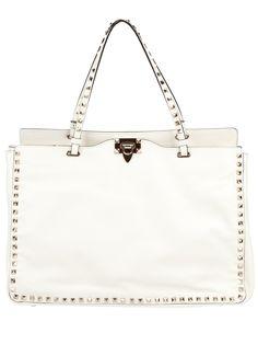 white valentino studded bag
