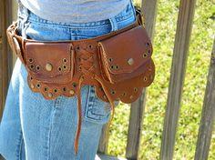 Princess Hip Purse  Leather Belt Purse by WarriorCreek on Etsy, $119.00    Princess bride style hip bag.