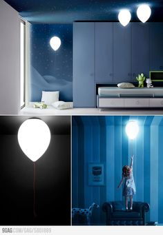 Balloon Lamps. Not sure if these are real or not, but would love it if they were.