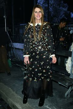 Anna Dello Russo attends the Chanel Metiers d'Art 2015/16 Fashion Show at Cinecitta on December 1 2015 in Rome Italy
