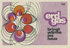 Don't have many erd gas labels, but they all reflect the design styles of the time very well. See others in this set.